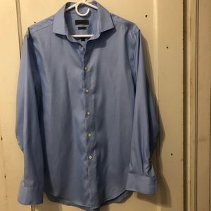 Calvin Klein blue button down long sleeve shirt